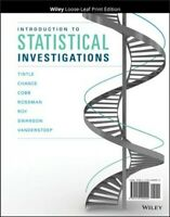 Introduction to Statistical Investigations, Paperback by Tintle, Nathan, Bran...