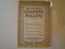 ANTIQUE NATIONAL GEOGRAPHIC September 1917 Geography of Medicines,Glimpse Russia