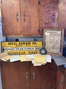 Rare Goodyear Automobile Tires Service Station Sign Dodge Brothers Price List!