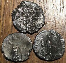 LOT DE 3 PIÈCES ROMAINES À IDENTIFIER , ROMAN COINS TO IDENTIFY (576)
