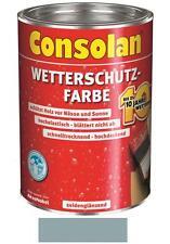 Consolan Wetterschutz-Farbe Silbergrau 2,5 Liter NEUWARE Art. Nr. 5083183