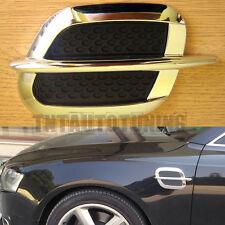 Par De Laterales ala el flujo de aire de admisión de ventilación Trim Fender Rejilla Universal Cromo Negro