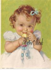 CHARLOTTE BECKER*BABY GIRL HELLO MAMA*QUILT ART FABRIC BLOCK*5X7* DEAREST