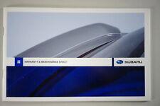 Scheckheft / / Entretien Brochure Subaru Blanc Stand 08/2008