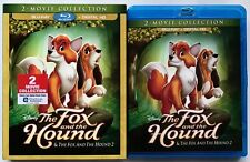DISNEY THE FOX AND THE HOUND 1 & 2 BLU RAY + SLIPCOVER SLEEVE 2 MOVIE COLLECTION