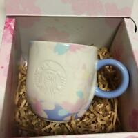 Starbucks Sakura 2019 Mug Cup white Blue Cherry Blossom Flower Tableware Japan