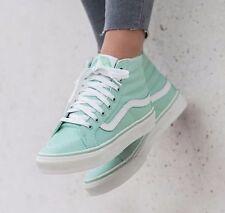 VANS Sk8 Hi Slim Gossamer Green/Blanc de Blanc Skate Shoes WOMEN'S Size 9.5