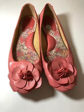 Born Pink Leather Flower Accent Ballet Flats 10