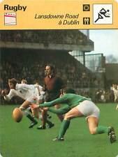 FICHE CARD: Lansdowne Road Dublin L'Irlande à l'attaque RUGBY à XV 1970s