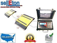 "16"" x 14"" x 2"" Two Portable Weigh Pads / Indicator & Printer / 20,000 lbs x 5 lb"
