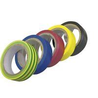 5 ruban scotch adhésifs isolation electrique coloris assortis 10mx15mm