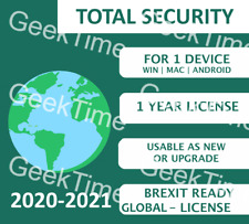 KASPERSKY TOTAL SECURITY 2021 ANY COUNTRY LICENSE KEY! +1 YEAR 1 PC MULTI-DEVICE