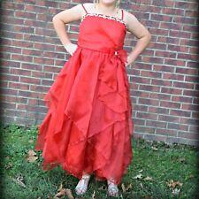 JOYKIDS USA Girls Sz 20 Formal Red Dress Ball Gown Pageant Dress