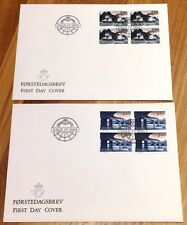 Norway Post FDC 1988.07.01. Europa Cept Transport & Communication Block of Four
