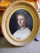 Originale künstlerische Malerein der Zeit Porträts & Personen Klassizismus -
