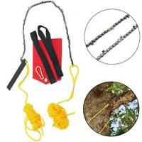 High Reach Limb Rope Chain Saw 48 Inch Branch Tree Cutter Trimmer Garden w/Bag