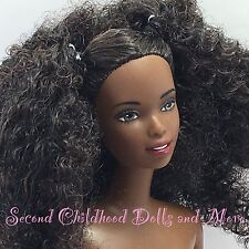 NEW Barbie GLAM N GROOM CHRISTIE Nude Big Curly Afro Hair Asha Face AA TNT Doll
