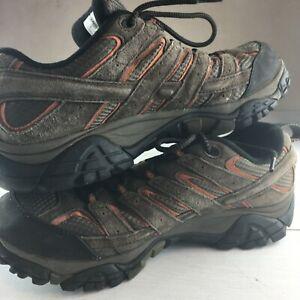 Merrell Moab 2 Mens 10 Low Top Hiking Shoes Waterproof Espresso Brown J06027