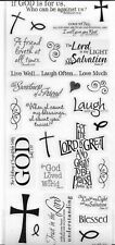 Religious Bible Verse Live Laugh Love Scrapbook Stickers 5x12""