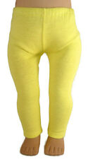 """Yellow Leggings fits 18"""" American Girl Doll Clothes Accessories"""