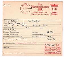Bürger Zigarre 1942 AFS Bruchsal Tabak für die große Sammlung Archivkarte