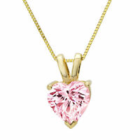 """Details about  /3.0 Round Cut Simulated Emerald Pendant Necklace 16/"""" chain 14k Rose Pink Gold"""