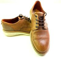 ECCO Brown Dress Sneakers Mens Size 43 Laced Leather Comfort Casual Shoes Oxford
