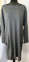 John Lewis Damsel in a Dress Grey Front Pocket Relaxed Shift Dress Size 10