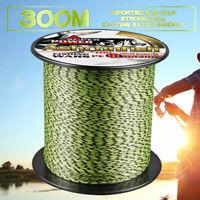 8 Strands 300M 6-300LB PE Multifilament Wire Mixed Color Spot Line Fishing Line