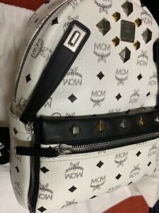 mcm white backpack dual stark small $890 plus tax