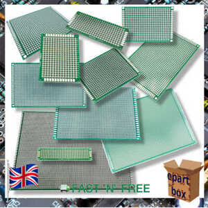 Double Side Universal PCB Prototype Board 2x8cm - 20x30cm 11 Different Sizes