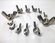 A2 Stainless steel butterfly wing nuts. M3 M4 M5 M6 M8 M10 M12. *Top Quality!