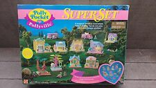 RARE #13772 Bluebird Mattel Polly Pocket POLLYVILLE SUPER SET Vintage Collector