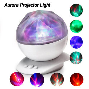 Color Changing Led Night Light Realistic Aurora Star Borealis Projector Baby Kid
