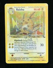 Raichu Holo Fossil Set Pokemon Card TCG WOTC 14/62 Rare Shiney
