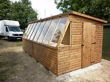 16 X 8 GOOD QUALITY T&G LOGLAP POTTING SHED AVAILABLE IN SMALLER SIZES
