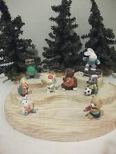 Hallmark Merry Miniatures 8Pc Lot Everyday Sports Hiking Soccer Football+