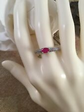 Art Deco Vintage Jewellery Sterling Silver Ring Ruby Sapphires Antique Jewelry