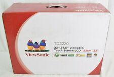 "ViewSonic TD2220 22"" Full HD 1920 x 1080 5ms VGA DVI-D Built-in Speakers Backlit"