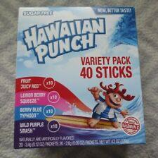 Hawaiian Punch Variety Pack 40 Packets Sugar Free Drink Mix