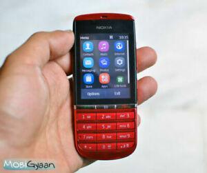 NOKIA Asha 300 Brand new Red 3G Unlocked Touch  5MP Camera Phone. UK seller