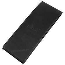 Rhodia Faux Leather Shopping List Note Pad Black Notebook & Refillable Notepad