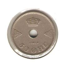 1929 NORWAY Coin 50 Ore - KEY DATE