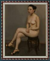 """Hand painted Original Oil Painting art Portrait nude girl on Canvas 24""""x36"""""""