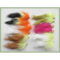Bunny Leech Trout Flies, 12 Pack Mixed colours, size 8, for Fly Fishing