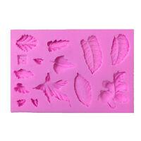 3D Leaves Vein Silicone Fondant Moulds Cake Decor Baking Icing Sugarcraft Molds
