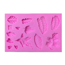 3D Leaves Vein Silicone Fondant Moulds Cake Decor Baking Icing Sugarcraft Molds