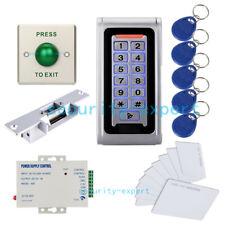 Metal Reader Access Control Security System Kit Code Keypad & Strike NO Lock+PSU