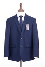 Men's Blue Savile Row Suit Alexandre Of London Tailored Fit 46R W40 L31