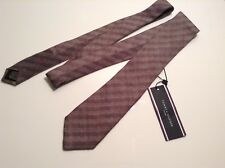 BNWTT 100% Auth Tommy Hilfiger, 100% Virgin Wool Brown Striped Tie. RRP €79.90